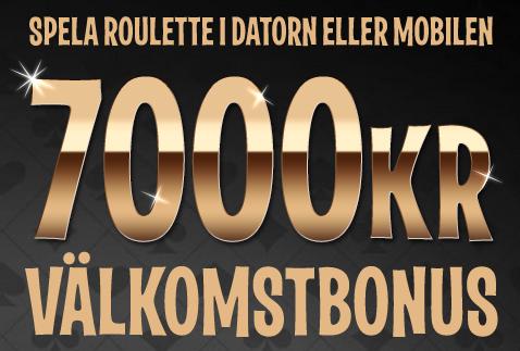 7000kr i roulette bonus hos leovegas