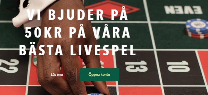 50kr gratis roulette bonus hos Codeta